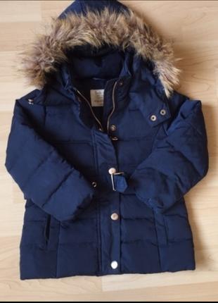 Курточка zara пуховая 1,5-3 года