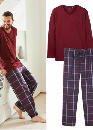 Мужская пижама домашний костюм, реглан кофта штаны, livergy германия