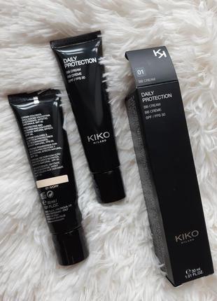 Вв крем, kiko milano daily protection bb cream spf 30! 01 оттенок