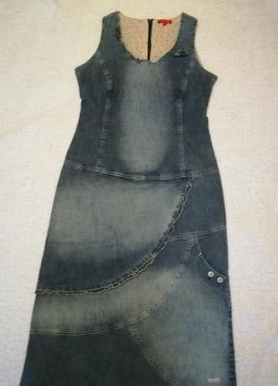 Длинный джинсовый сарафан фирмы terre de marins, размер 42