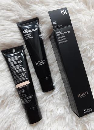 Вв крем kiko milano daily protection bb cream spf 30 ! оттенок 02