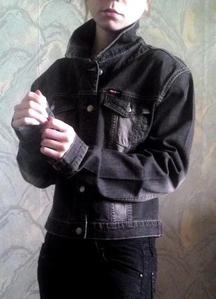 Куртка джинсовая темно - серая