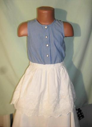 Платье с вышивкой maggie&zoe 4-5лет рост 110