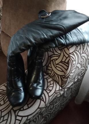 Кожаные зимние сапоги 39 размер