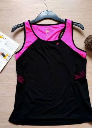 Спортивная майка - топ с сеточкой размер 12-14 (44-46)