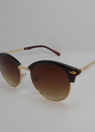 Стильные коричневые солнцезащитные очки, к.2098