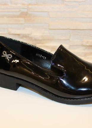 Туфли женские черные лаковые код т158