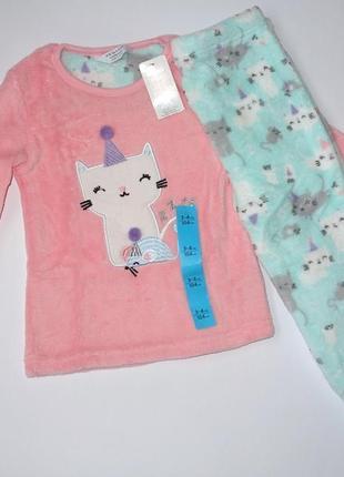 Пижама пушистый флис для девочки, primark.