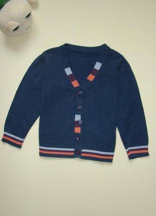 Стильный джемпер свитер кофта m&s18-24 мес 100% хлопок