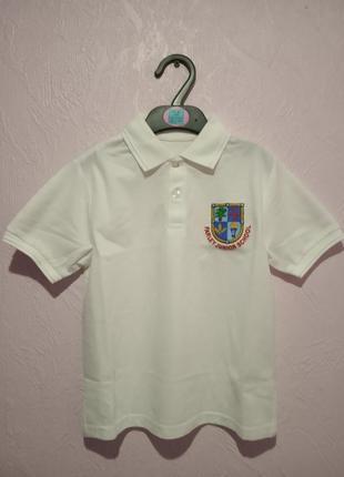 Поло футболка белая англия