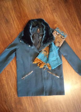 Мега красивое бирюзовое пальто бойфренд от atmosphere