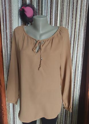 Блуза світло коричнева,