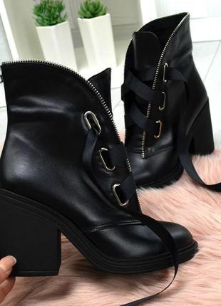 36-40 рр ботинки,ботильоны черные, бордо натуральная кожа, замша