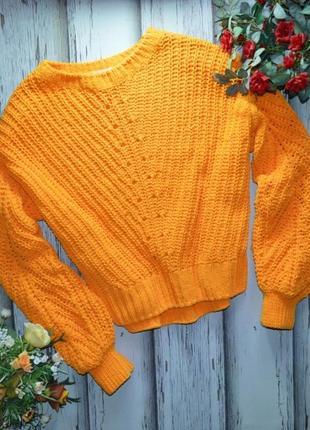 Велюровый свитер с объемными рукавами h&m p m