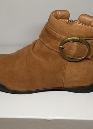 Натуральная кожа ботинки для девочки