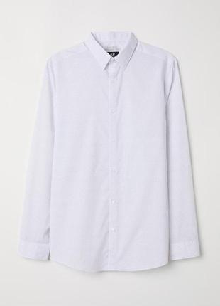 Рубашка в мелкий горошек,белая рубашка в крапочку1 фото