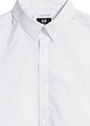 Рубашка в мелкий горошек,белая рубашка в крапочку5 фото