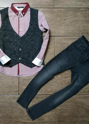 Комплект #рубашка #джинсы