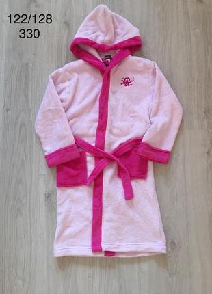 Новый флисовый халат на девочку lupilu