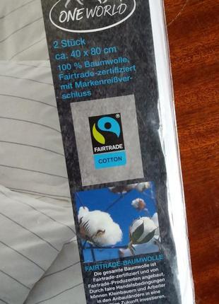 Наволки из органического хлопка р.40*80 см производство германия5 фото