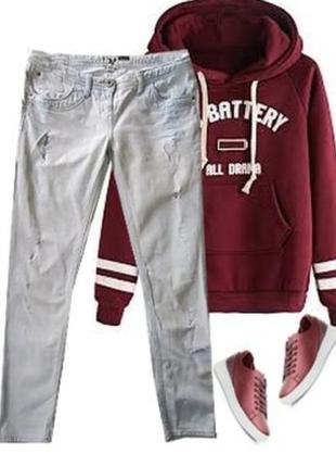 Модные рванные джинсы размер 46-48
