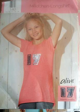 Футболка для девочки р.152 alive германия