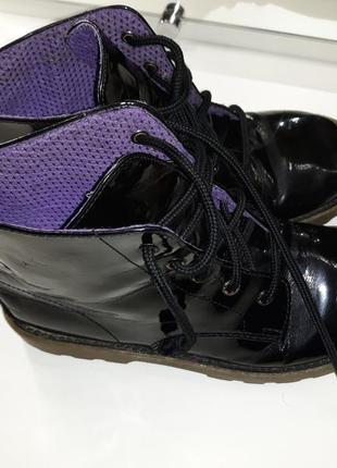 Лаковые ботинки faded glory 31р