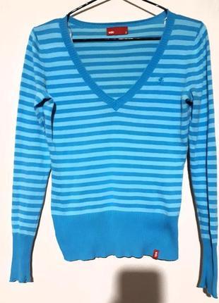 Джемпер полосатый пуловер свитер подростковый кофта edc