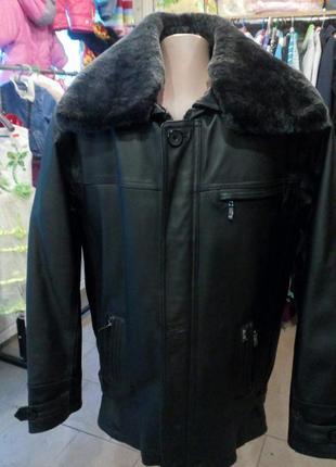 Новая итальянская кожанная мужская куртка