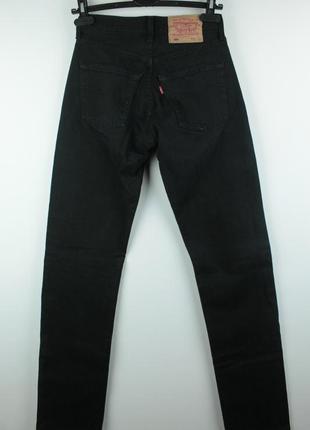 Оригинальные винтажные джинсы levis 501 black завышеной посадкой размер w26/l34