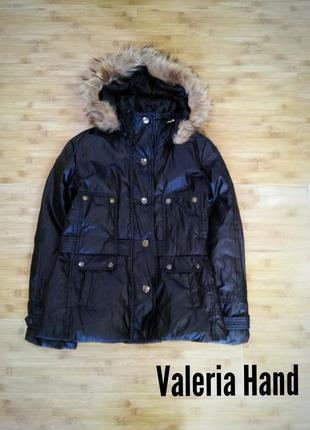 Пуховая зимняя легкая комфортная куртка just cavalli- размер 46-48