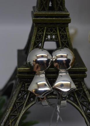Серебряные серьги #флажок, #глянец, #3-d, #срібні_сережки, #бескаменка, #925
