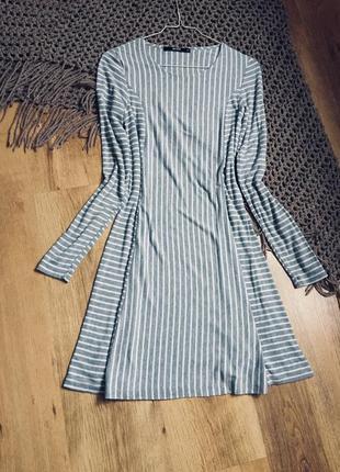 Стильное платье трапеция в полоску от bik bik
