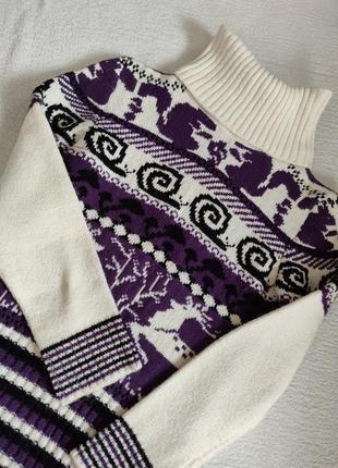 Очень классное зимнее вязаное платье1 фото