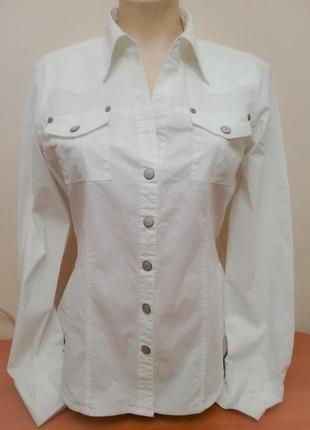 Классная белая рубашка# блузка на кнопках broadway, p.40/l