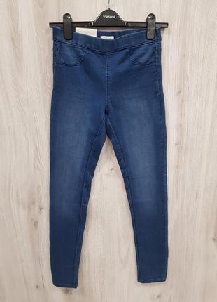 Синие джинсы на рнзинке,синие джегинсы3 фото