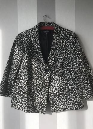 Пиджак леопардовый принт kasper, новый!