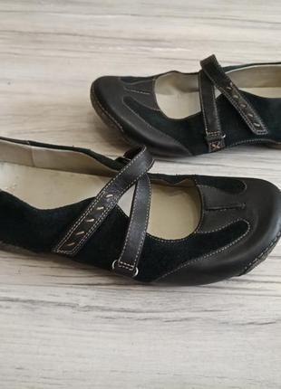 Кожаные туфли clarks 7р. 25,5-26 см