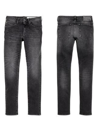 Мужские очень зауженные джинсы скинни h&m 32