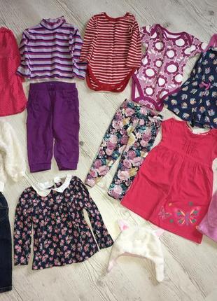 Набор фирменных вещей платье боди штаны ромпер  на девочку 12-18 месяцев до 2 года