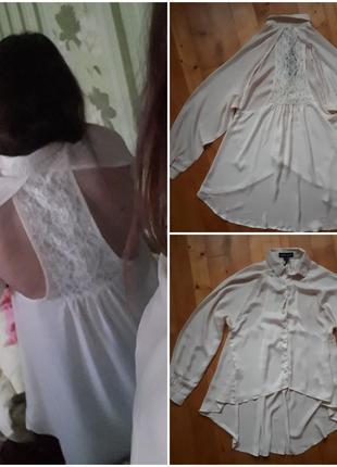 Блуза с эффектной спинкой upper west.