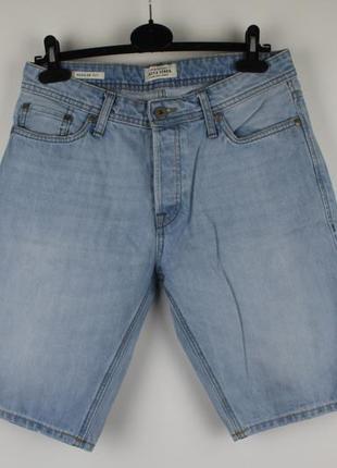 Стильные качественные джинсовые шорты jack&jones regular fit размер s-m