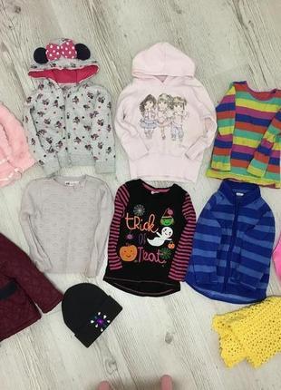 Набор комплект фирменных вещей для девочки 2-3 года куртка пальто кофта шапка свитер