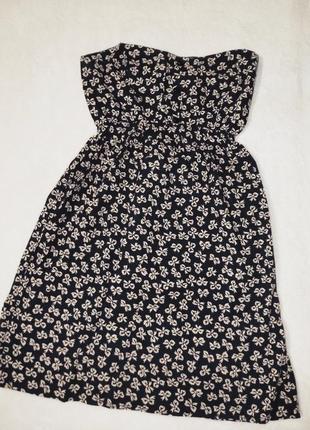 Платье бюстье бант бантик принт