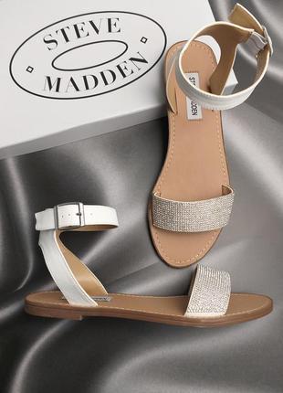 Steve madden оригинал белые сандалии с стразами бренд из сша