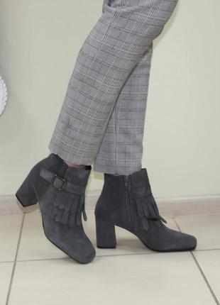 Ботинки cafenoir оригинал италия натуральная замша 37-38