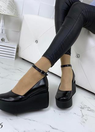 Шикарные туфли из натуральной кожи на удобной платформе. размеры с 36 по 40