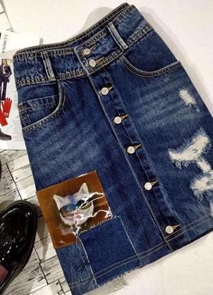 Модная джинсовая юбка от lumina