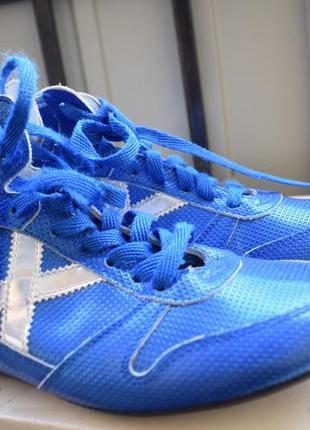 Стильные кожаные боксерки борцовки испания munich р.37 24 см