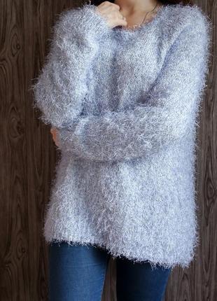Пушистый свитерок нежно - голубого цвета